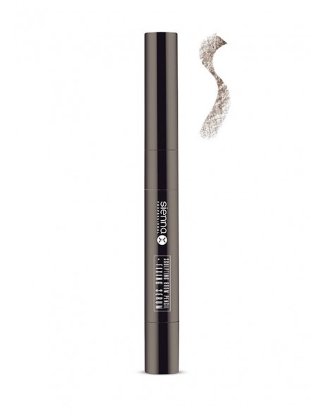 "SCULPTING BROW PENCIL + FIXING SERUM ""WARM BRUNETTE"""