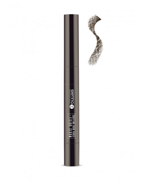 "ANTAKIUS KOREGUOJANTIS PIEŠTUKAS ""WARM BRUNETTE"" + FIKSUOJANTIS SERUMAS - SCULPTING BROW PENCIL + FIXING SERUM (NATURAL BLACK)"